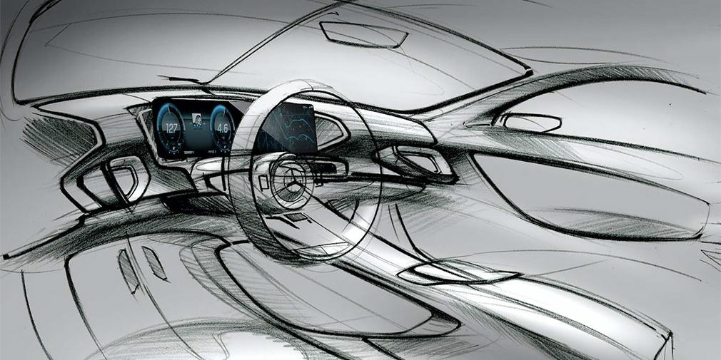 Mercedes-Benz продемонстрировал эскизы интерьера нового GLE 1