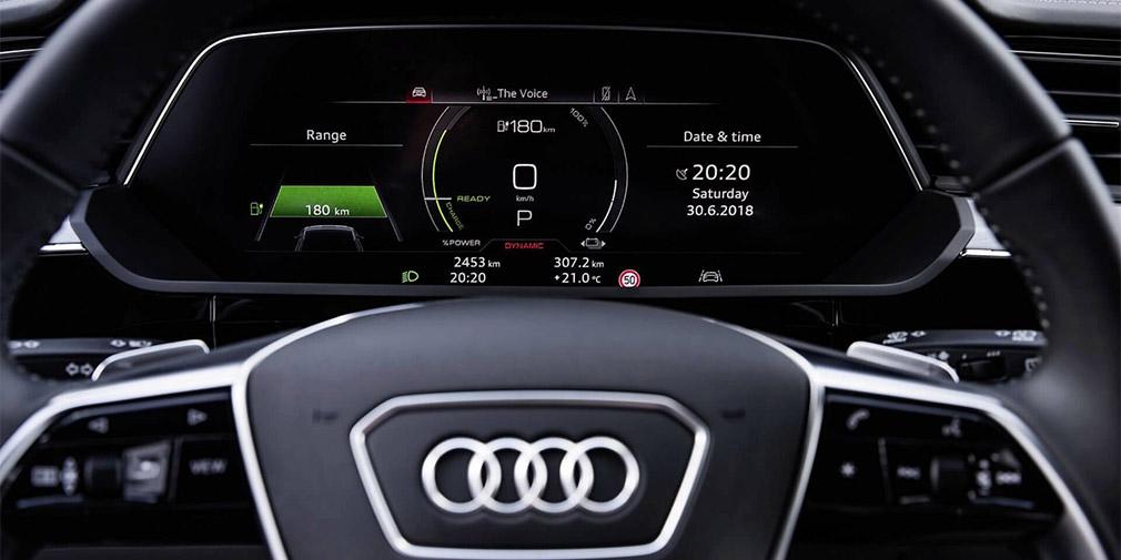 Компания Audi показала интерьер кроссовера E-Tron 3