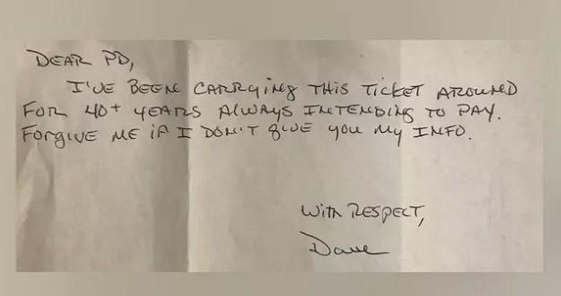 Водитель оплатил парковку спустя 44 года из-за чувства вины 1