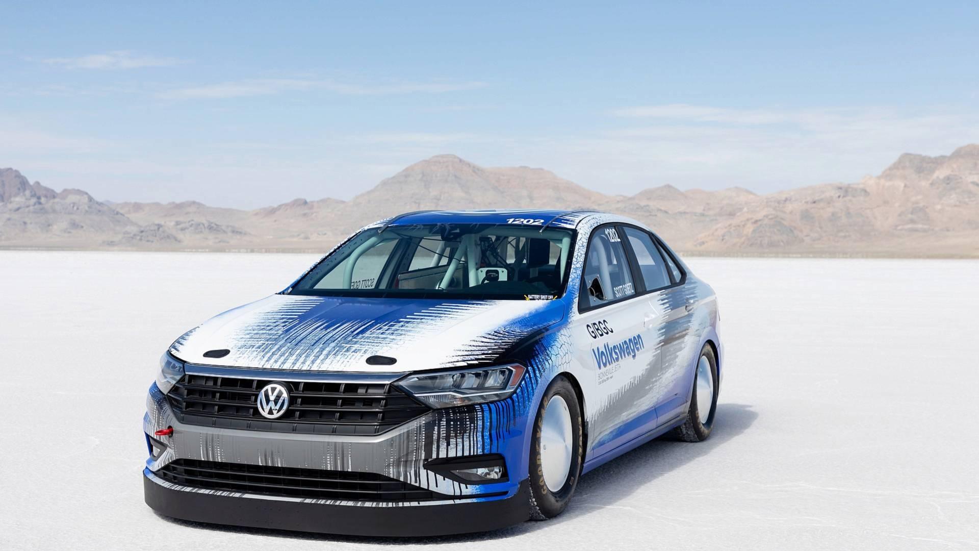 Volkswagen Jetta установил рекорд скорости на озере Бонневилль 1