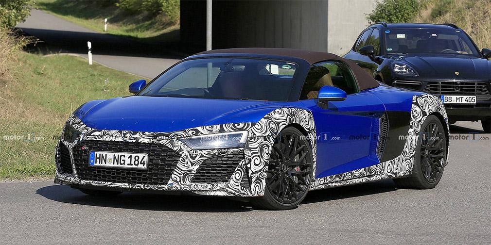 Audi начала испытания обновленного суперкара R8 Spyder 1