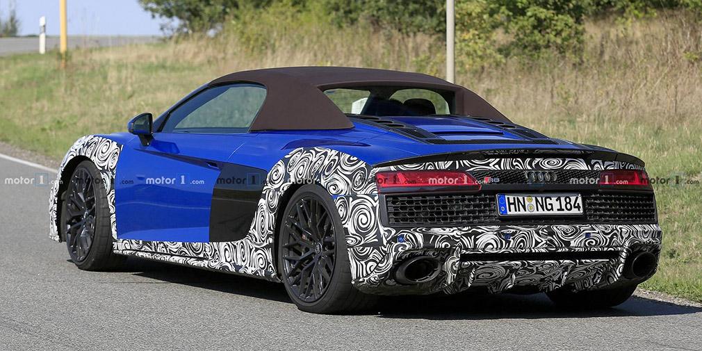Audi начала испытания обновленного суперкара R8 Spyder 2