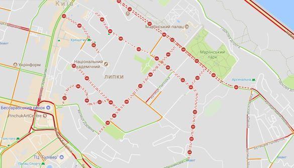 В центре украинской столицы проехать невозможно 1