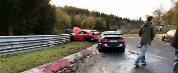 Сразу полтора десятка автомобилей столкнулись на «Северной петле» 2