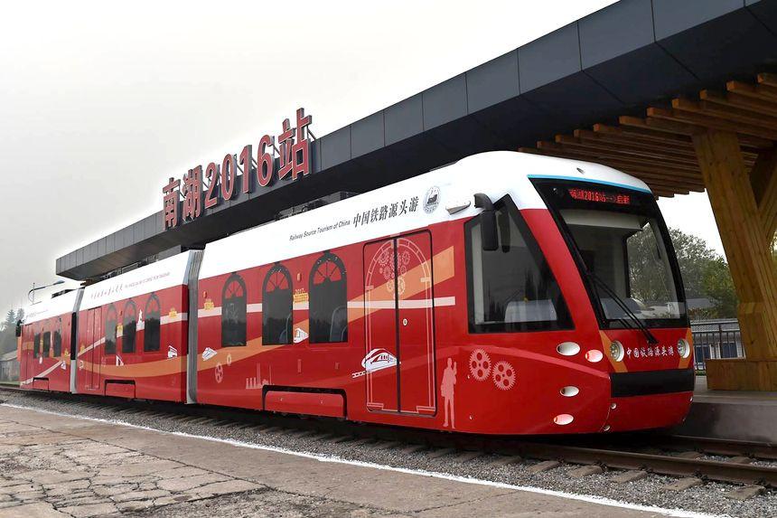 В Китае впервые запустили водородный трамвай 1