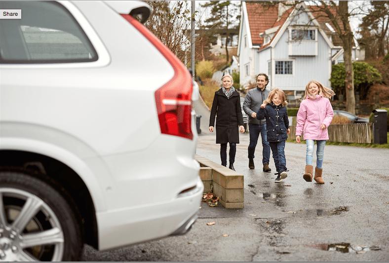Volvo испытывает беспилотные машины на шведских семьях 1