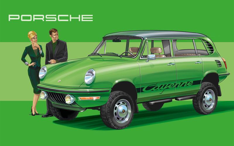 Как бы выглядел Porsche Cayenne, если бы появился 45 лет назад 8