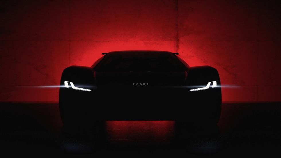 Audi опубликовала первое изображение нового суперкара 1