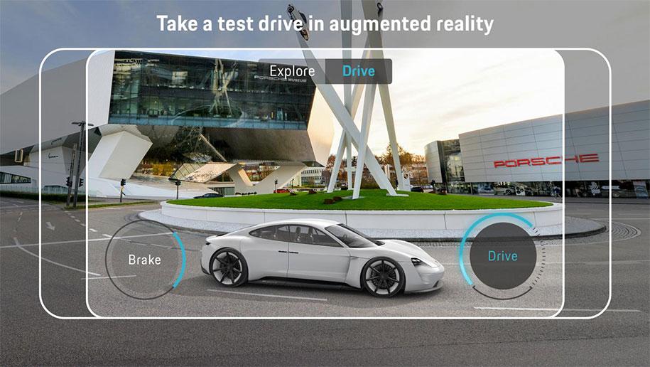 Электрический спорткар Porsche внедрили в дополненную реальность 3
