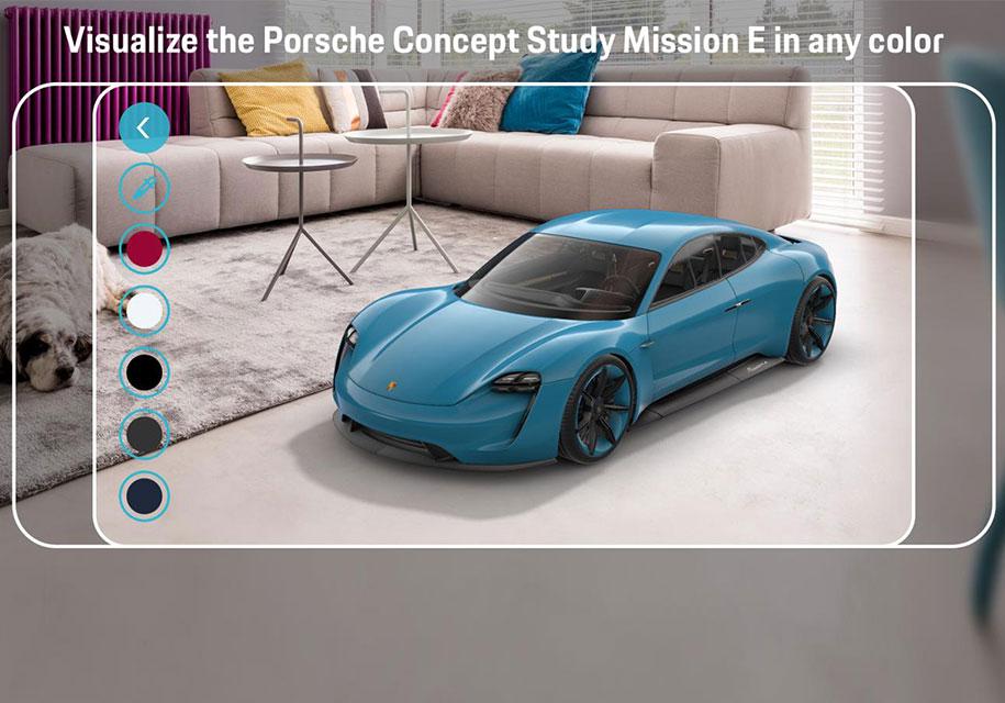Электрический спорткар Porsche внедрили в дополненную реальность 1