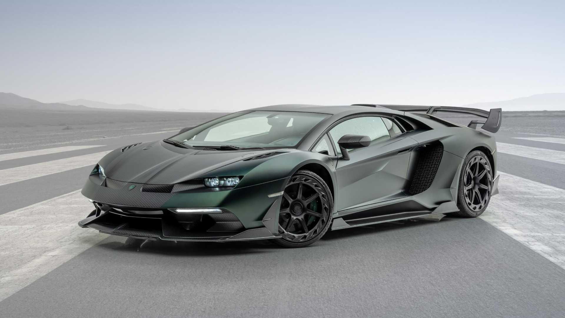 Тюнеры показали Lamborghini Aventador SVJ со «сплющенными» фарами 1