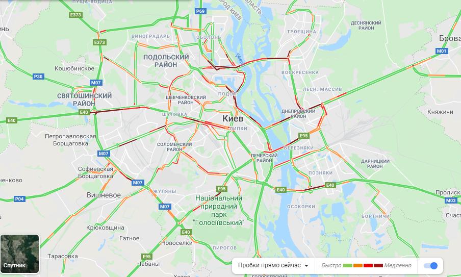 Без метро: Киев замер в пробках 1