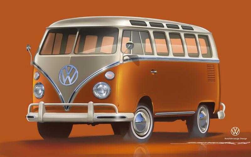Винтажный Volkswagen Bulli превратили в электромобиль 1