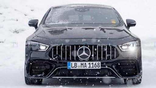 На тестах заметили электрическое купе Mercedes-AMG GT 73 1
