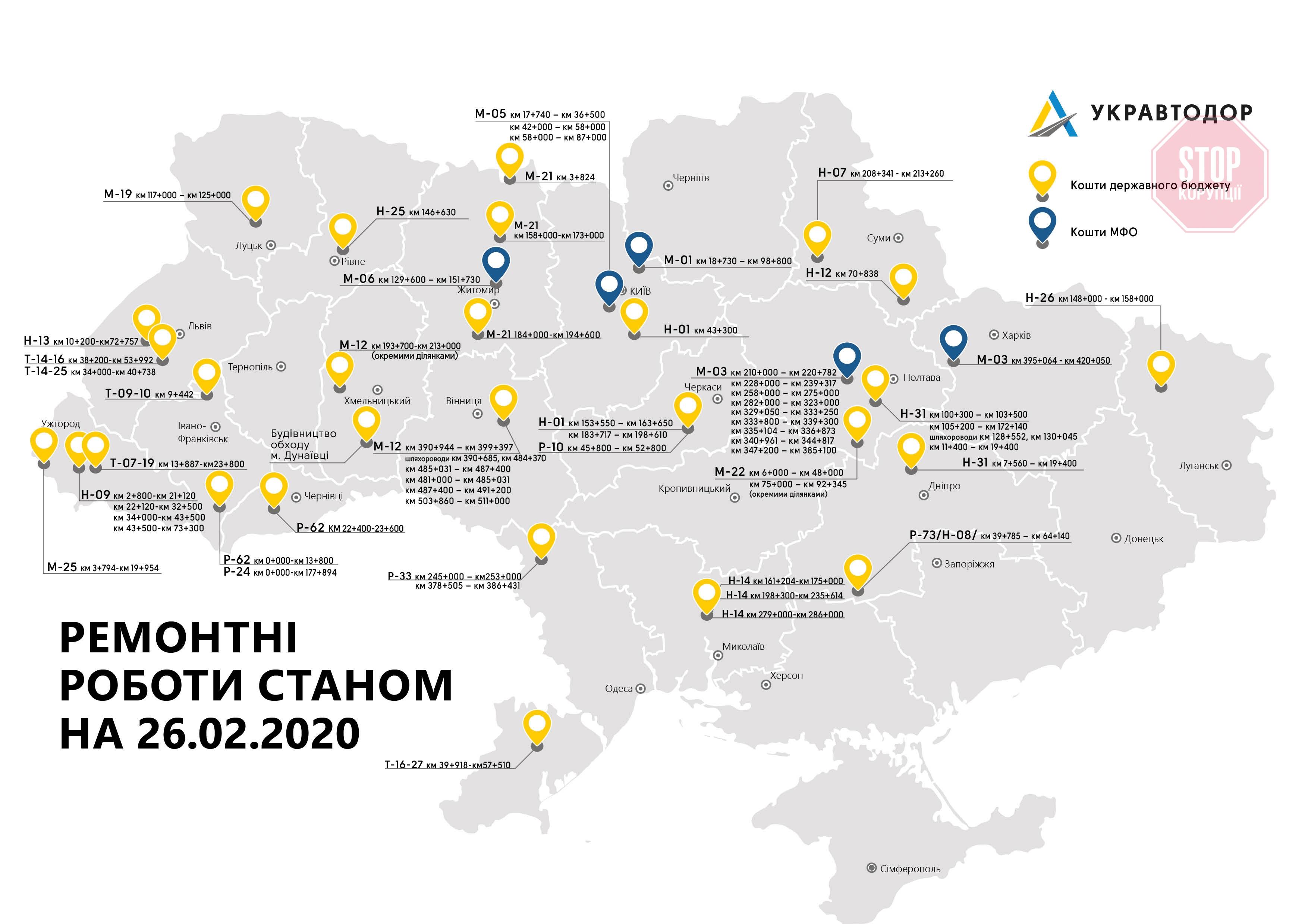 «Укравтодор» показал, где началась реконструкция автомобильных дорог 1
