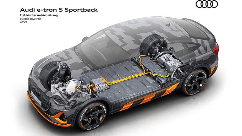 Audi подарила третий электродвигатель e-tron S 1