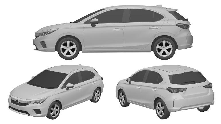 В Сети показались патентные изображения нового хэтчбека Honda 1