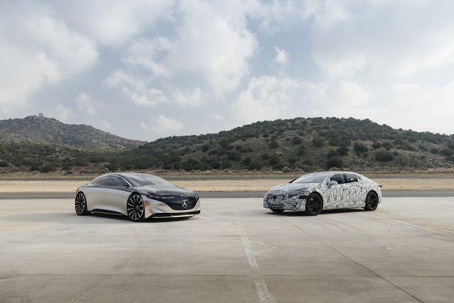 Mercedes-Benz опубликовал изображения закамуфлированного электромобиля EQS 1