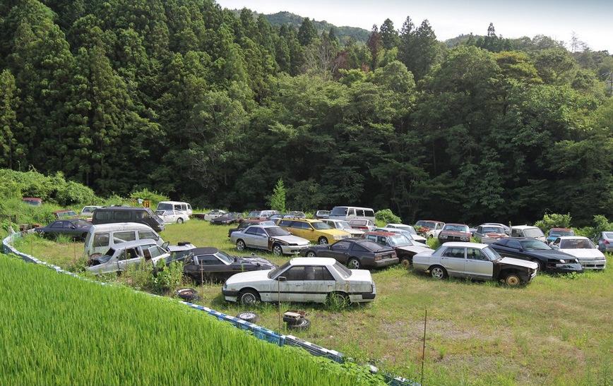 Три десятка редких японских авто гниют под открытым небом 1