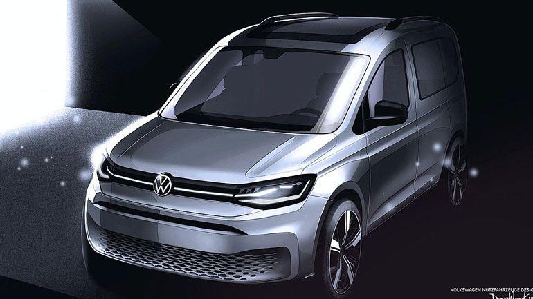 Volkswagen продемонстрировал изображения нового Caddy 1