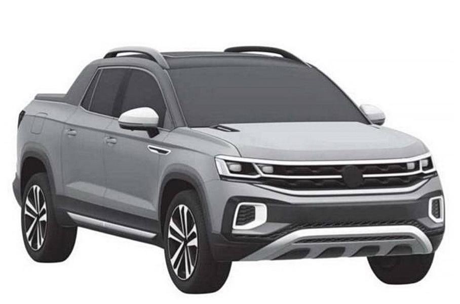 Volkswagen запатентовал дизайн пикапа на базе Tiguan 1