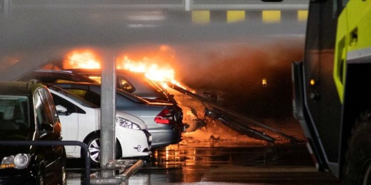 В подземном паркинге в Норвегии сгорели более трех сотен машин 1