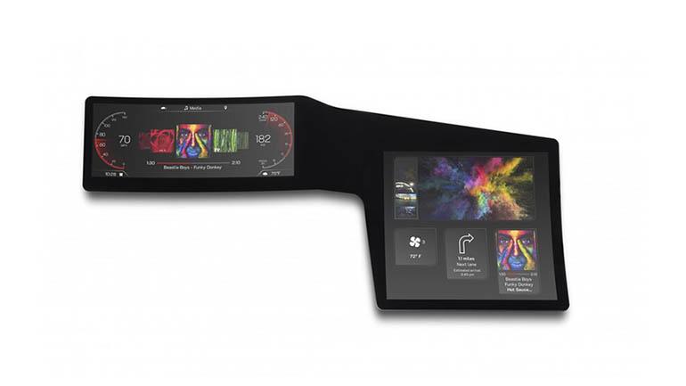 Представлен гибкий автомобильный экран 1