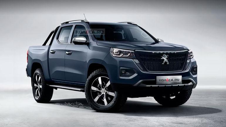 Появились первые изображения нового пикапа Peugeot 1