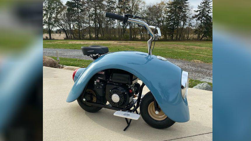Гаражный умелец строит мотоциклы из Volkswagen Beelte 2
