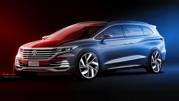 Volkswagen продемонстрировал первые изображения нового минивэна 1