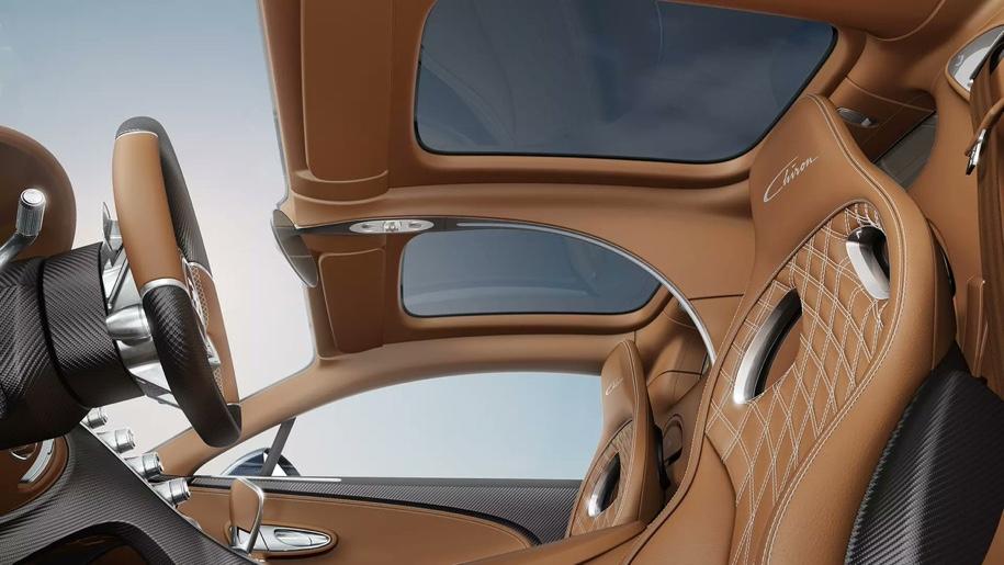 Bugatti Chiron оснастили панорамной крышей 2