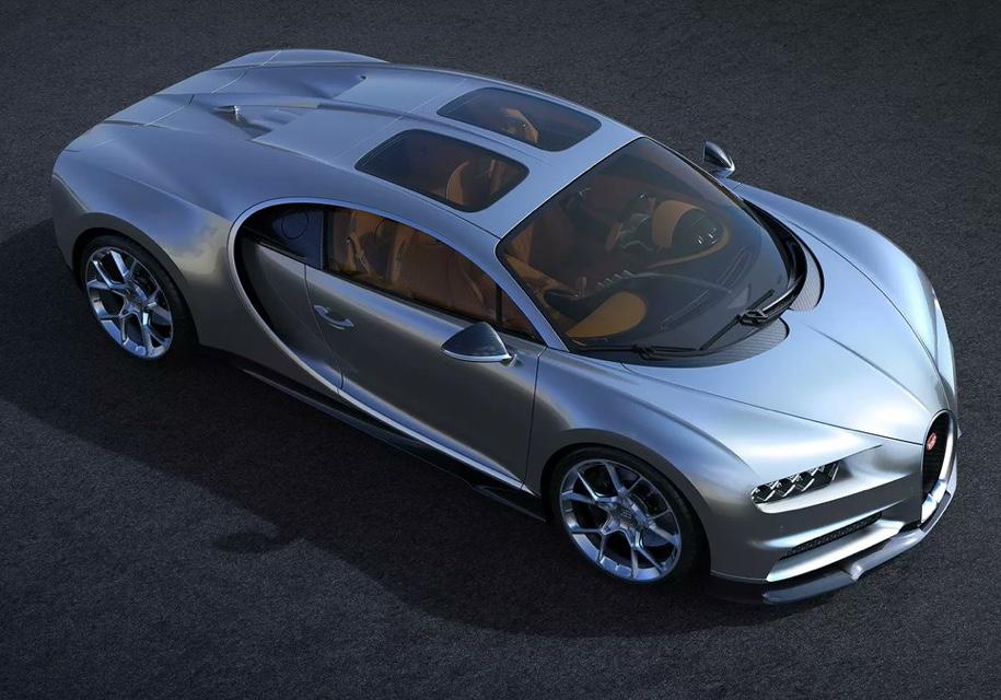 Bugatti Chiron оснастили панорамной крышей 1