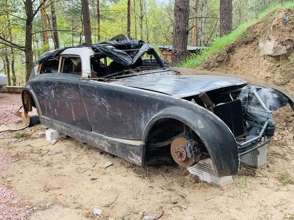 Уникальный довоенный Maybach обнаружен в украинском лесу 2