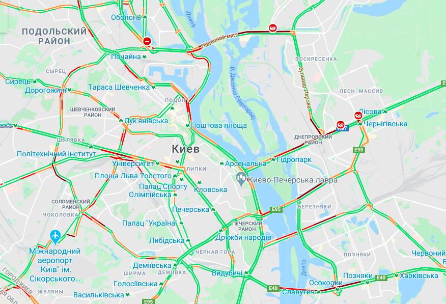 Киев вновь парализован заторами 1