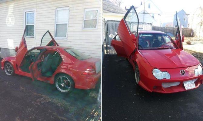 Старая Honda «замаскировалась» под Mercedes 1