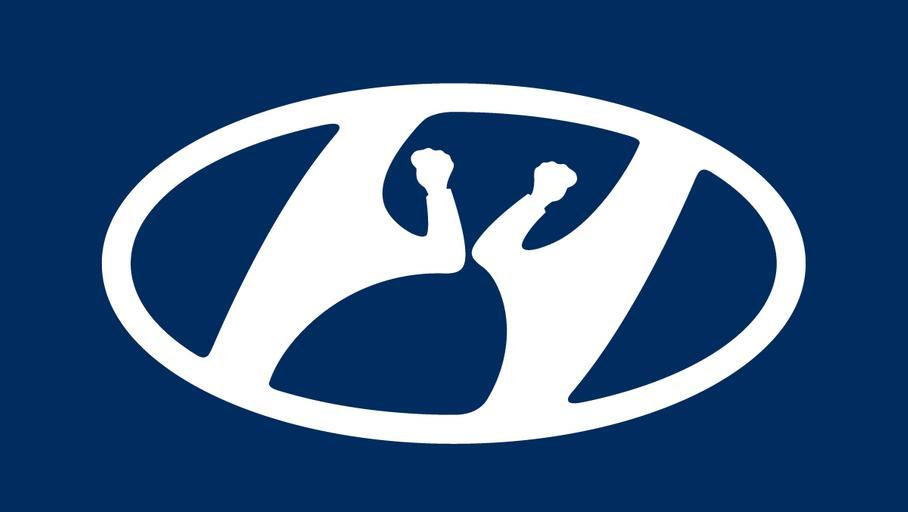 Hyundai оригинально изменил логотип 1