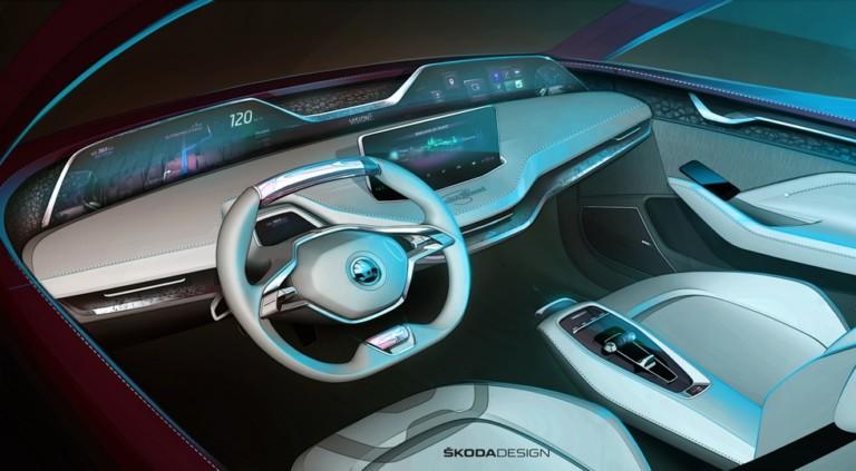 Skoda презентует свой обновленный концепт Vision E 2