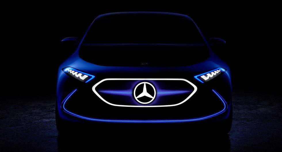 Mercedes-Benz показал тизер конкурента BMW i3 1