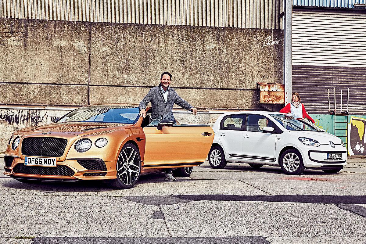 «Сравнить несравнимое»: тест драйв Bentley Continental Supersports против Volkswagen Up 1