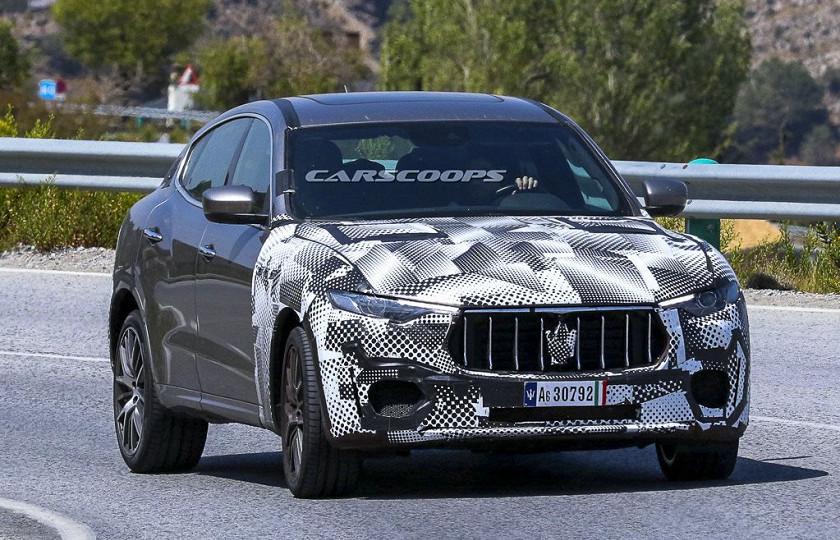 «Горячий» Maserati Levante впервые показался на дороге 1