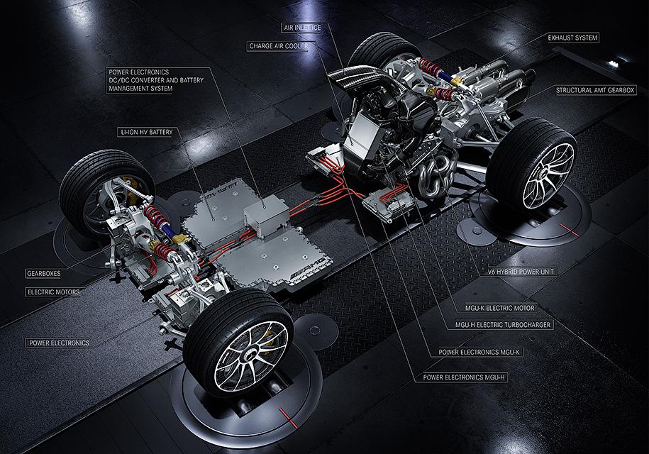Опубликовано новое изображение 1000-сильного гиперкара Mercedes-AMG 1
