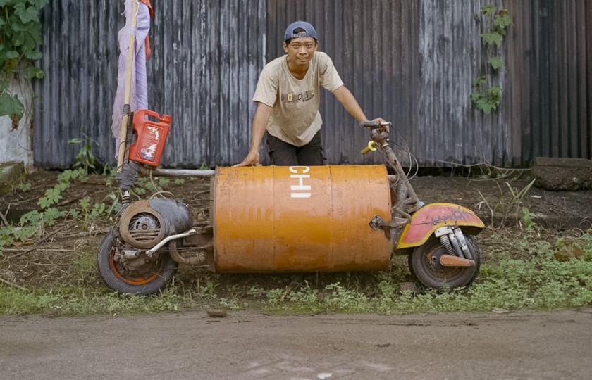 Индонезийские мопеды и мотоциклы поражают своим «безумством» 1