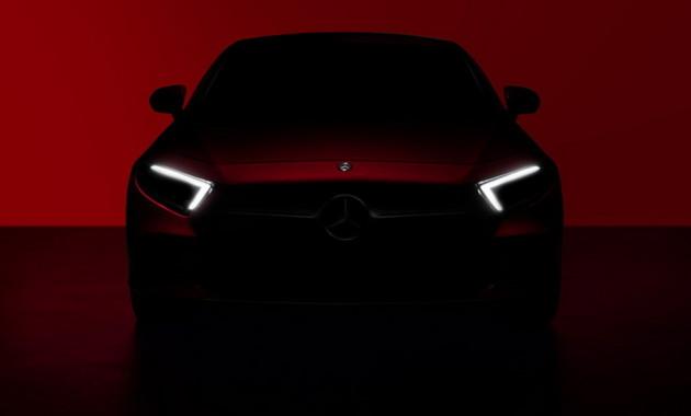 Mercedes-Benz частично показал четырехдверное купе CLS 1