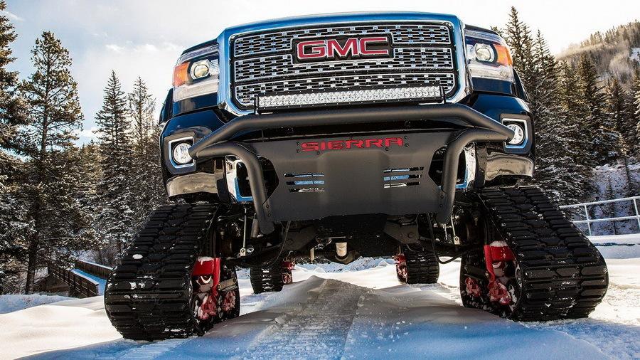 General Motors построил гусеничный пикап для сноубордистов 1