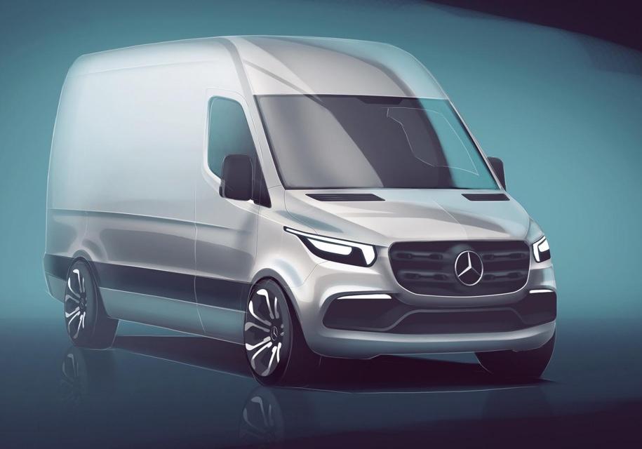 Mercedes-Benz показал неожиданный интерьер нового Sprinter 3