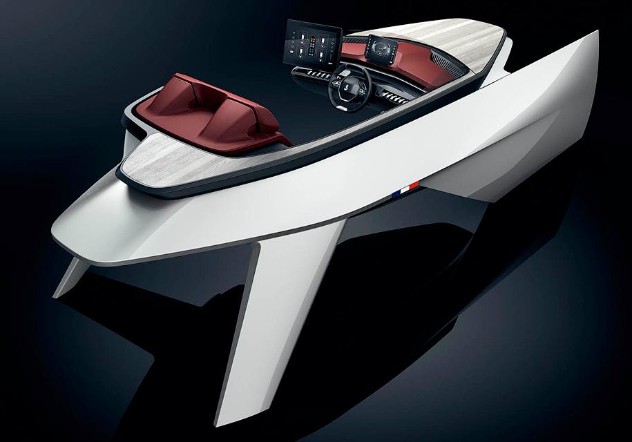 Peugeot применит интерьер своих автомобилей для лодок 1