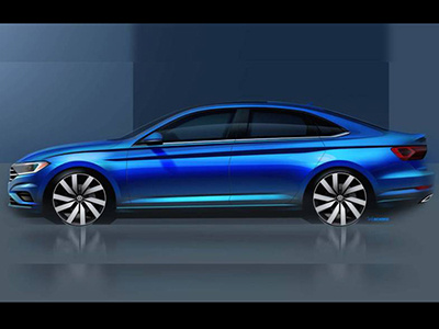Volkswagen «дразнит» изображениям новой Jetta 1
