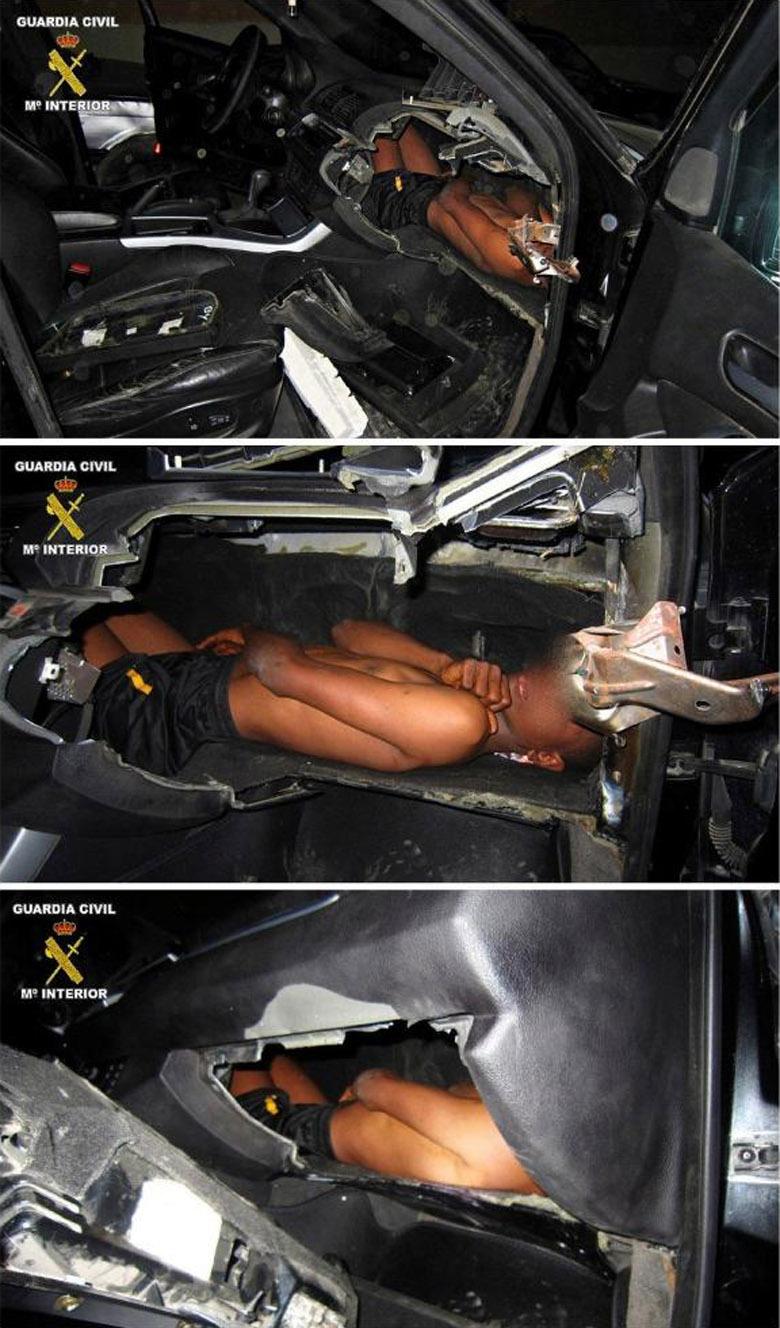 «Нелегал» попытался пересечь границу в бардачке BMW X5 1