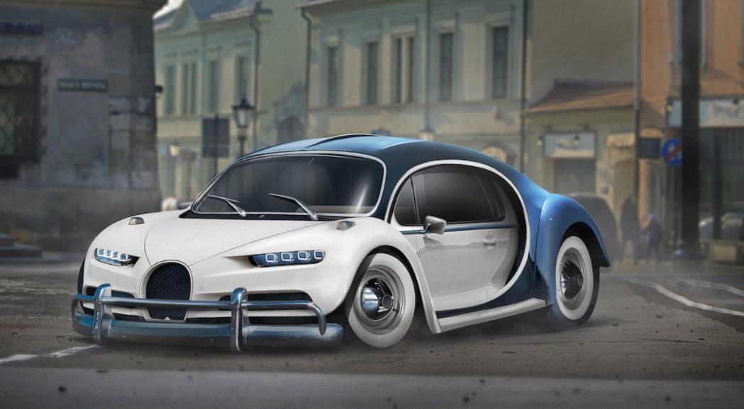 Что будет, если «скрестить» Bugatti Chiron и VW Beetle 6