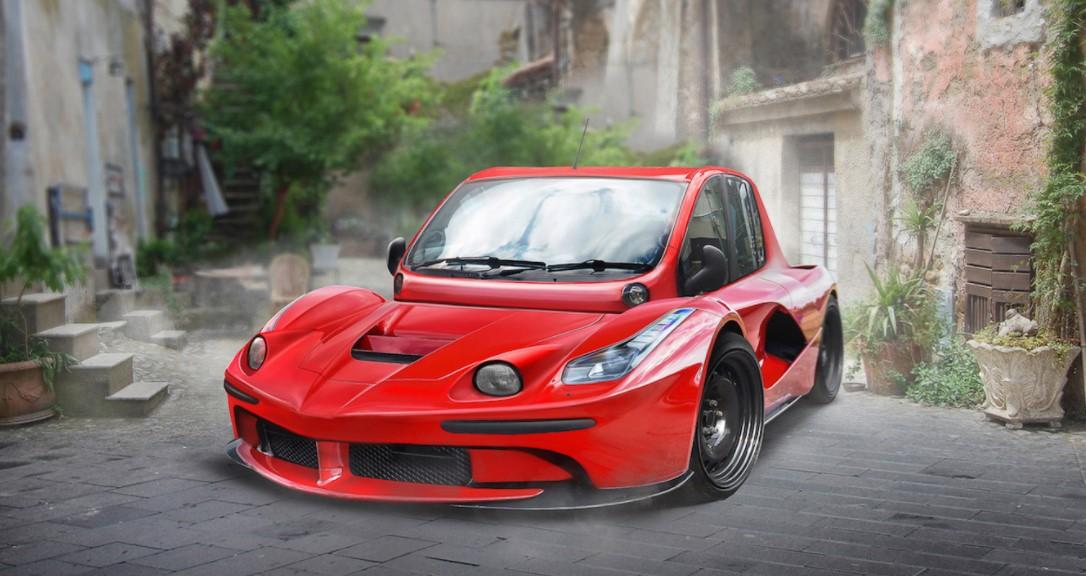 Что будет, если «скрестить» Bugatti Chiron и VW Beetle 5